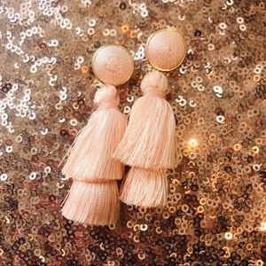 Jewelry - Pastel Pink Thread Earrings